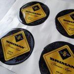 Объемные наклейки с логотипом